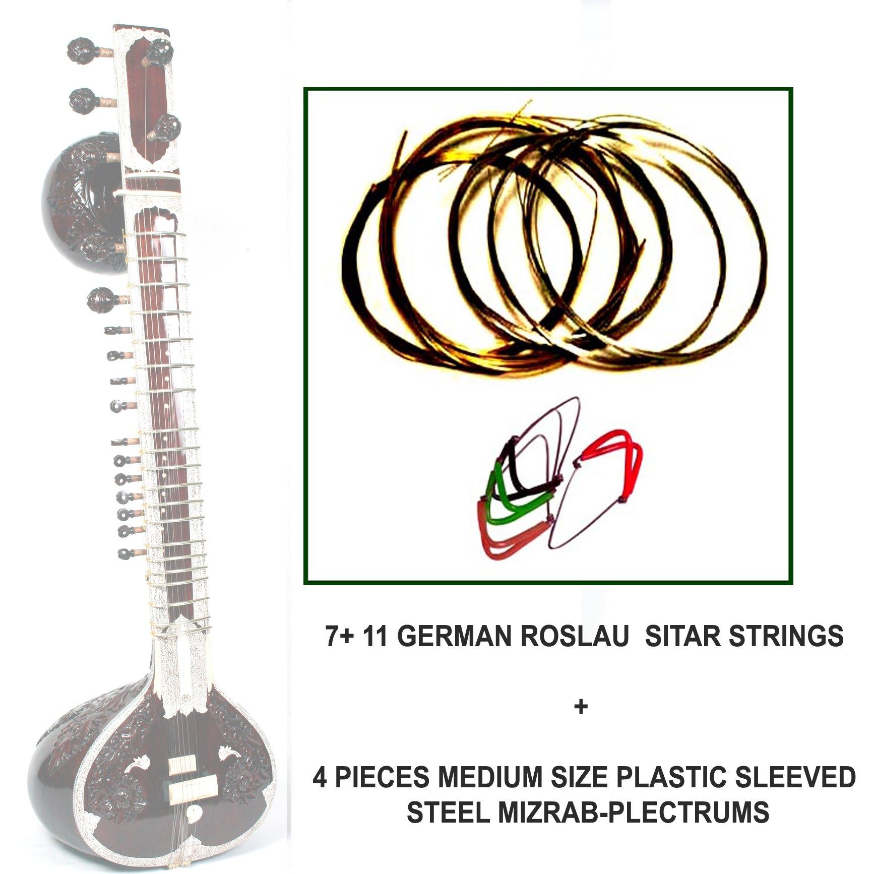 Pluctrum for Indian Sitar Pick Set of 4 Mizrab high quality mizrab