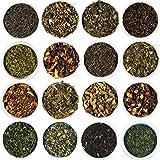 Beantown Tea & Spices - Gourmet Loose Leaf Tea Sampler. 30 Varieties To Choose From. Each Sampler Makes 3-5 Servings. Green, Black, White and Herbal Teas. (Cherry Blossom Green Tea)