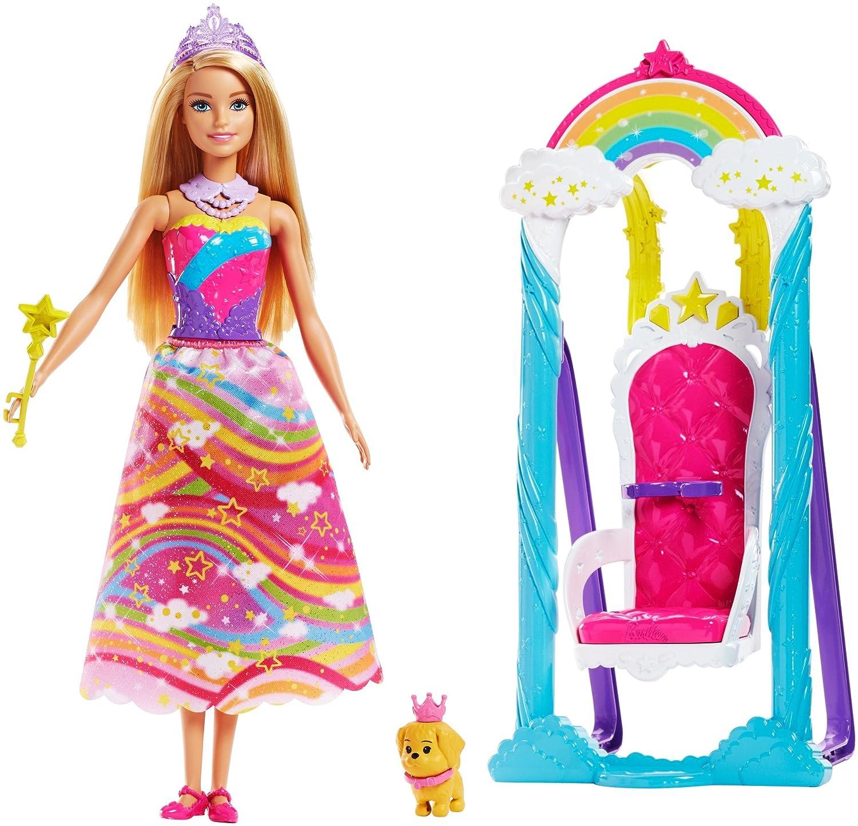 Amazon Barbie Princess Swing Fashion Doll Playset Toys Games