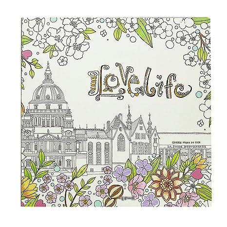 AISI libro para colorear: I love life - Folios de portatil/gigante ...