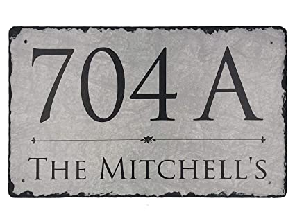 Astounding Sassy Squirrel Beautifully Handcrafted And Customizable Slate Home Address Plaque 12X8 Or 16X10 Personalized House Sign With And Mounting Download Free Architecture Designs Boapuretrmadebymaigaardcom