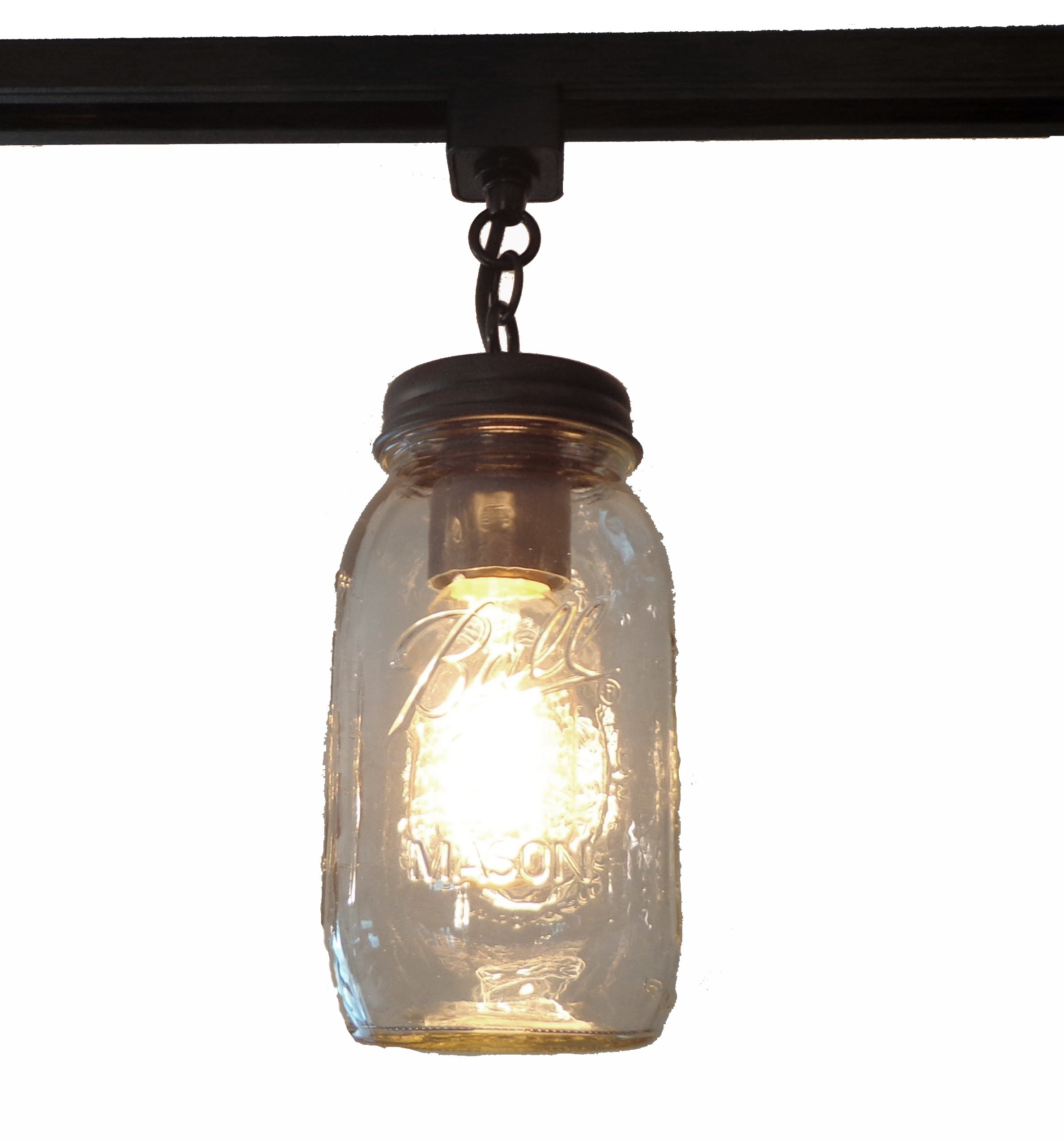 LAMP GOODS MASON JAR TRACK LIGHTING NEW QUART SINGLE by The Lamp Goods