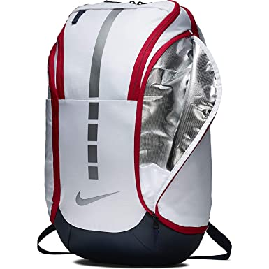 Nike Hoops Elite Hoops Pro Basketball Backpack White Obsidian Red