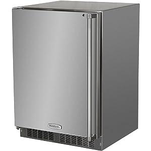 AGA Marvel MO24RAS1LS Outdoor Refrigerator with Lock, Left Hinge Stainless Steel Door, 24-Inch