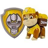 Paw Patrol - La Squadra dei Cuccioli – Action Pack – Rubble – Personaggio Zaino con Distintivo