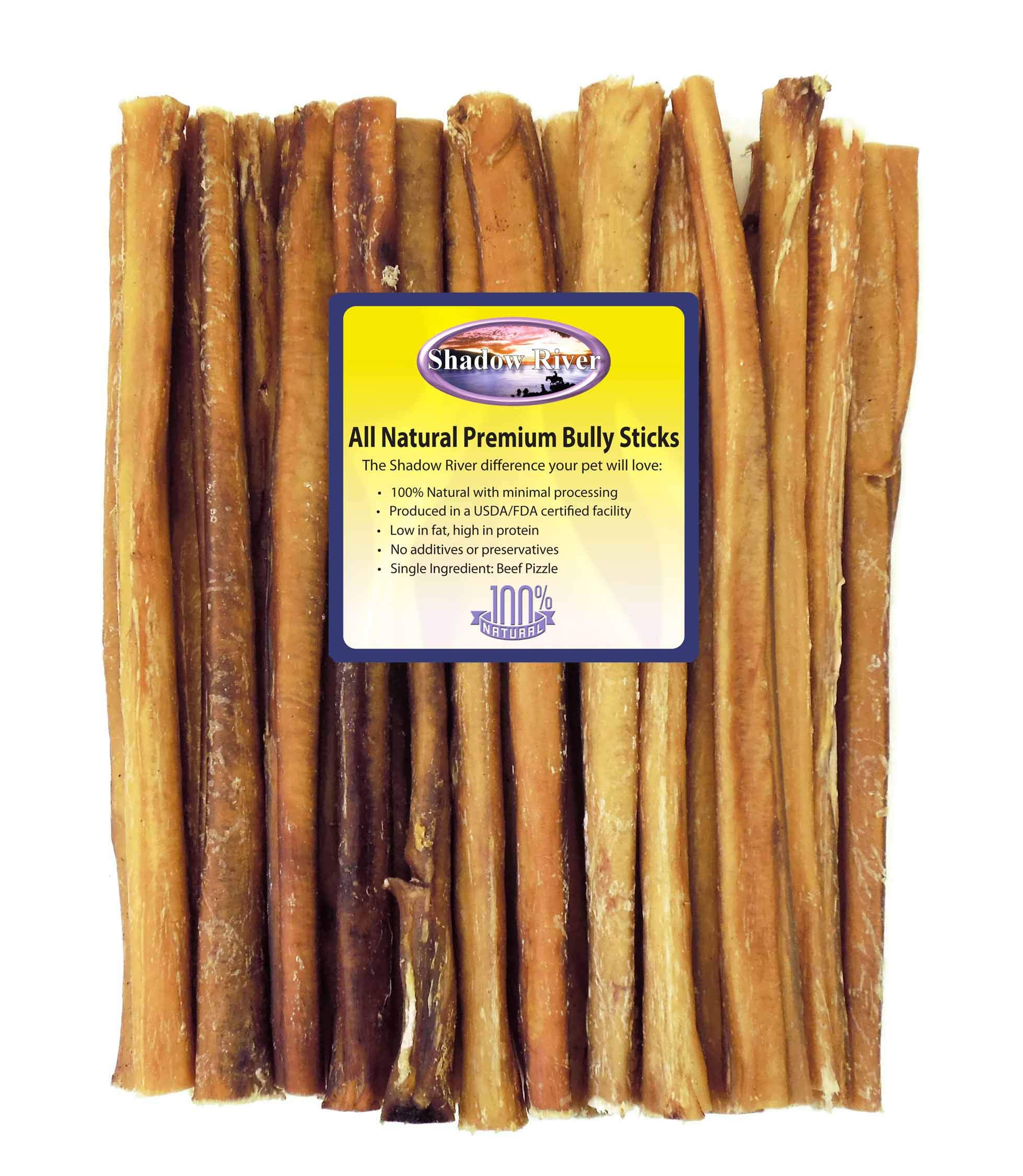 Shadow River 25 Pack 12 Inch Monster All Natural Premium Beef Bully Sticks for Dogs