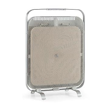 Klarstein HeatPal Marble • Calentador infrarrojo • Calefactor • 1300W • Almacenamiento de Calor • Bajo Consumo • Móvil • Silencioso • 48 x 67cm • Mármol ...