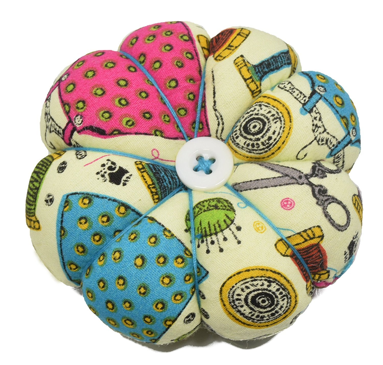 Besplore Pin Cushion Polka Pumpkin Wrist Pin Cushions Wearable Needle Pincushions,Pink