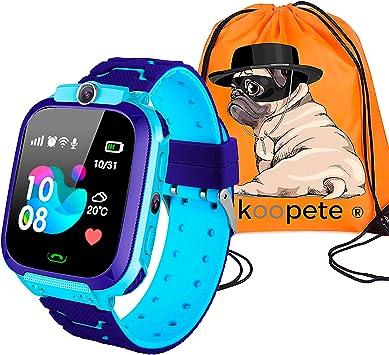 Koopete.Smartwatch niños.Regalo de Mochila.Reloj Inteligente ...
