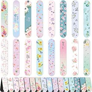 48 Pieces Floral Magnetic Bookmarks Cute Magnet Page Markers Magnetic Page Clips for Kids Adults Reading Stationery, 16 Colorful Design
