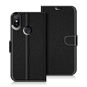 COODIO Funda Xiaomi Mi A2 con Tapa, Funda Movil Xiaomi Mi A2, Funda Libro Xiaomi Mi A2 Carcasa Magnético Funda para Xiaomi Mi A2, Negro