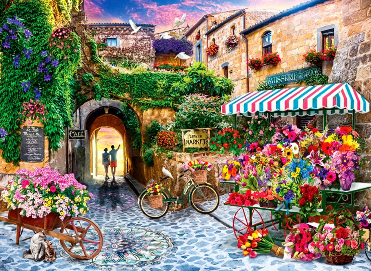 Colorful Home Furnishing Canvas 16x20inch-Romantic Coast iFymei Paint by Number Kits Paintworks DIY Acrylic Oil Painting for Kids and Adults Beginner