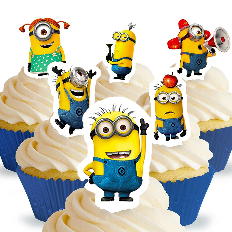 12 x PRECUT Despicable Me Minions Edible Cake Toppers Amazoncouk