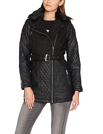 New Look Mixed Fabric Biker 57eeb32f2d0