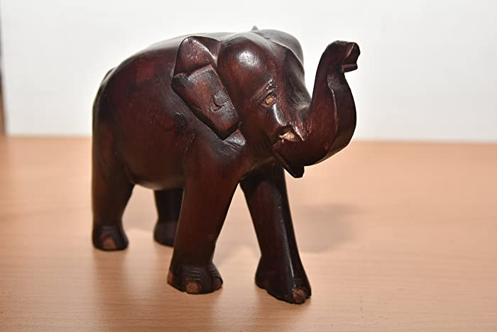 Amazon Real Natural Wooden Lucky Elephant Trunk Up 100 Wood