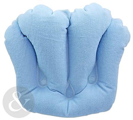 SOFT EMBELLISHED BATH PILLOWS Head Rest Bath Cushions - Inflatable ...