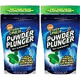 Green Gobbler POWDER PLUNGER Toilet Bowl Clog Remover - 2 Pack Net WT 16.5 oz
