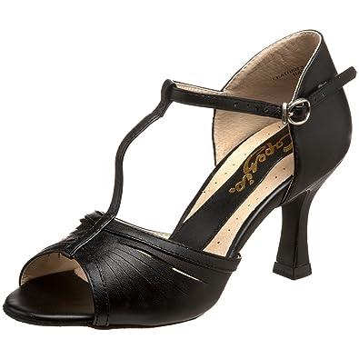 083010330547 Capezio Women s BR128 Alandra Latin T-Strap 2.5 quot  Flared Heel Shoe