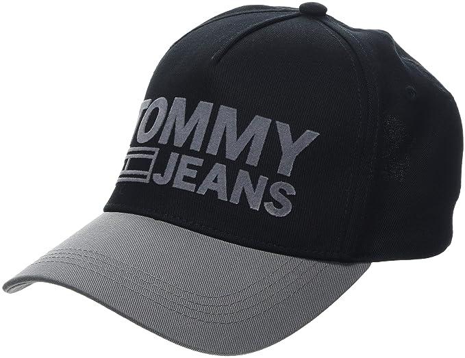 76e8ad1d Tommy Hilfiger Men's Tju Logo Baseball Cap, (Black Mix 902), One ...