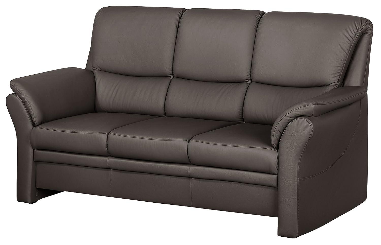 Cavadore 4342 Polstergarnituren Klariza, 3-Sitzer, 2-Sitzer, Sessel, Leder Punch kombiniert mit Kunstleder, mocca