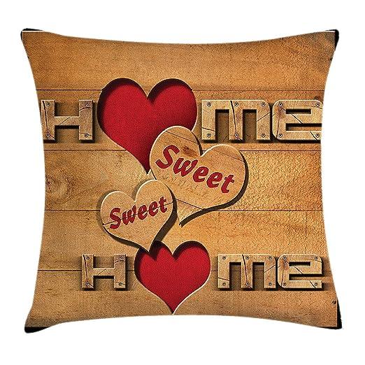 Wfispiy Home Sweet Home - Funda de cojín con Forma de ...