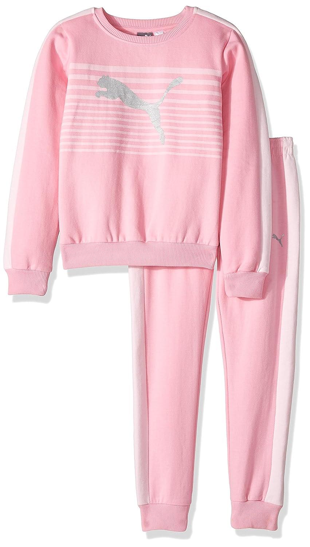 PUMA Girls Girls' Two Piece Fleece Set Petal Pink 5 61175460FAZ-P655