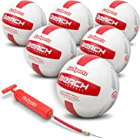 GoSports Pro Series Beach Volleyball - Regulation Size & Weight with Bonus Air Pump (Choose Single Ball or Six Pack with Mesh Bag)
