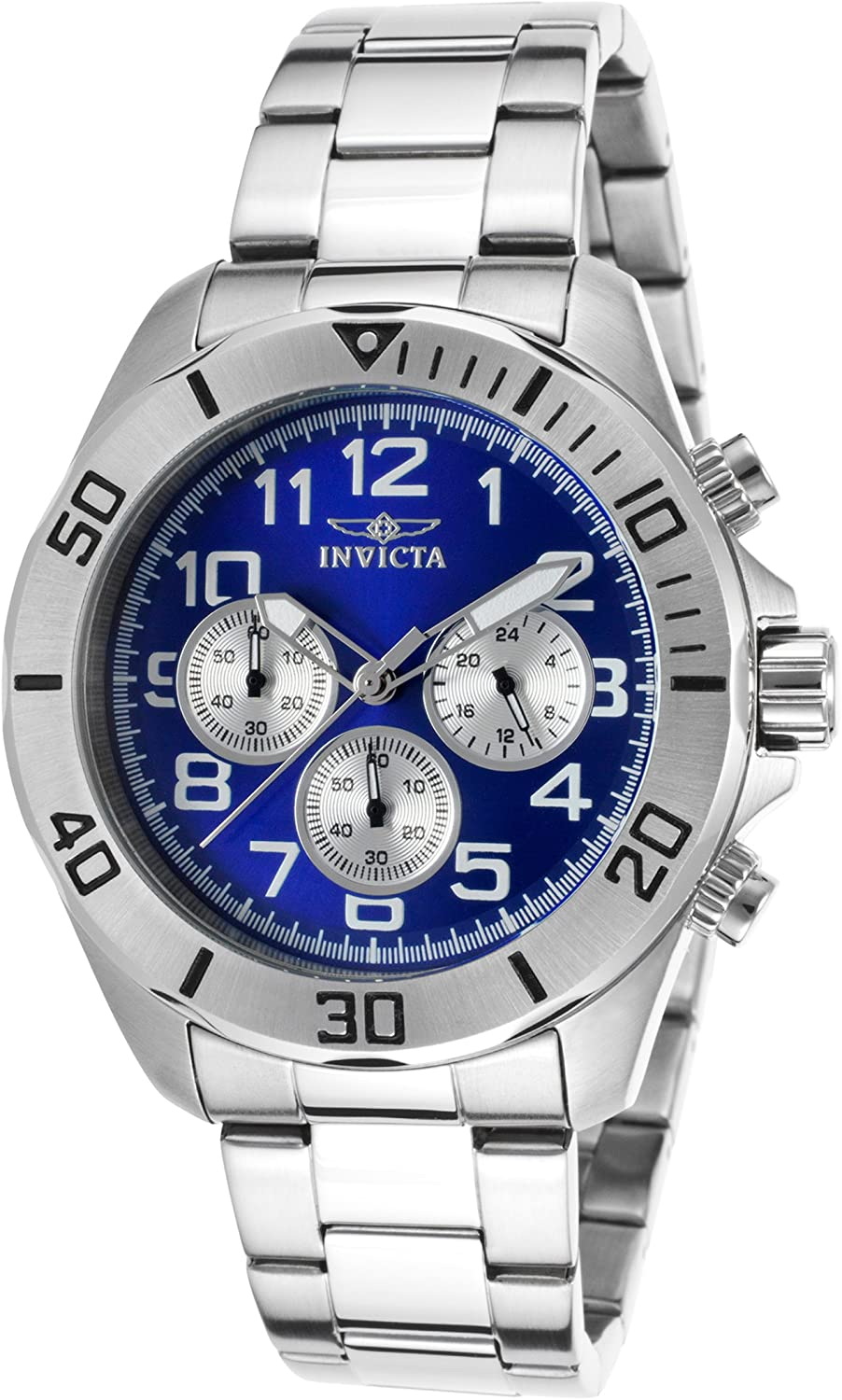 Invicta Men s Pro Diver Chronograph Stainless Steel – Blue