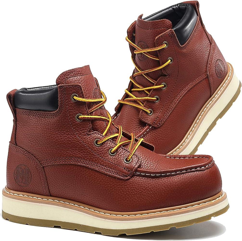 Men's Moc Toe Construction Work Boots