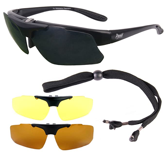 Amazon.com: Catch Pro POLARIZED RX FISHING SUNGLASSES Frame for Prescription Spectacle Wearers, with Interchangeable Polarized Anti Glare Lenses.