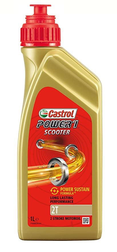 Castrol Power 1 Scooter Aceite de Motores 2T 1L (Sello inglés)
