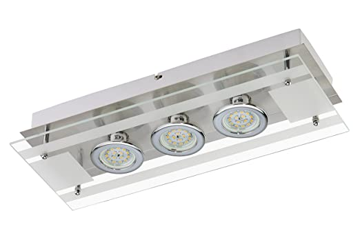 Briloner Leuchten Led Wandleuchte 3 X 5 W 400 Lm Matt Nickel 3552