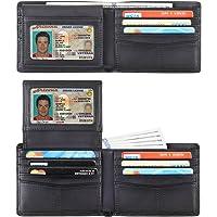 Travelambo Genuine Leather RFID Blocking Wallets Mens Wallet Bifold Classic