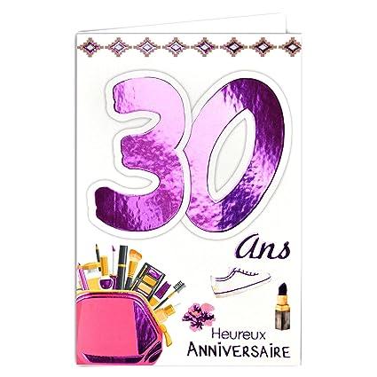 69-2029 - Tarjeta de cumpleaños para mujer de 30 años ...