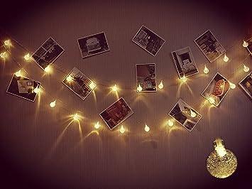 Amazoncom Indoor Outdoor Bubble Globe String Lights Christmas - Indoor christmas lights for bedroom
