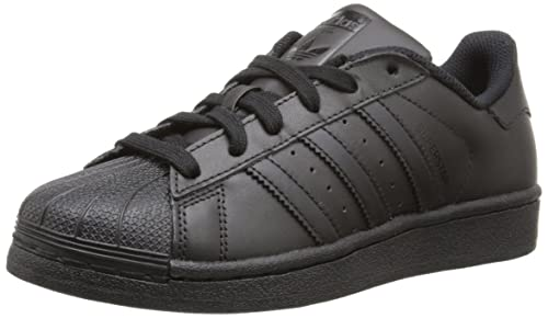 6407352a Adidas ORIGINALS Kid's Superstar Shoes, Core Black/Core Black/Core Black,  3.5