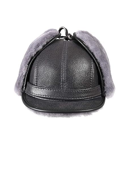 4a5ed459b55 Zavelio Women s Shearling Sheepskin Elmer Fudd Visor Hat Small Antrasit