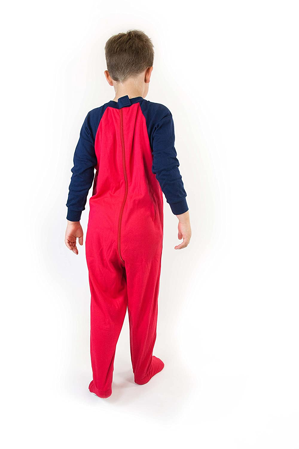 Special Needs Unisex Long Seeve Zip Back Footed Pajamas for Kids 3-16 yrs