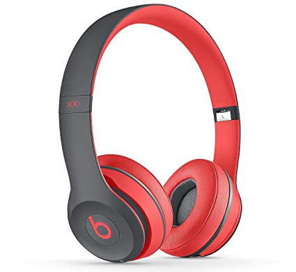 Beats by Dr. Dre Solo2 - Auriculares in-ear, Rojo / Gris