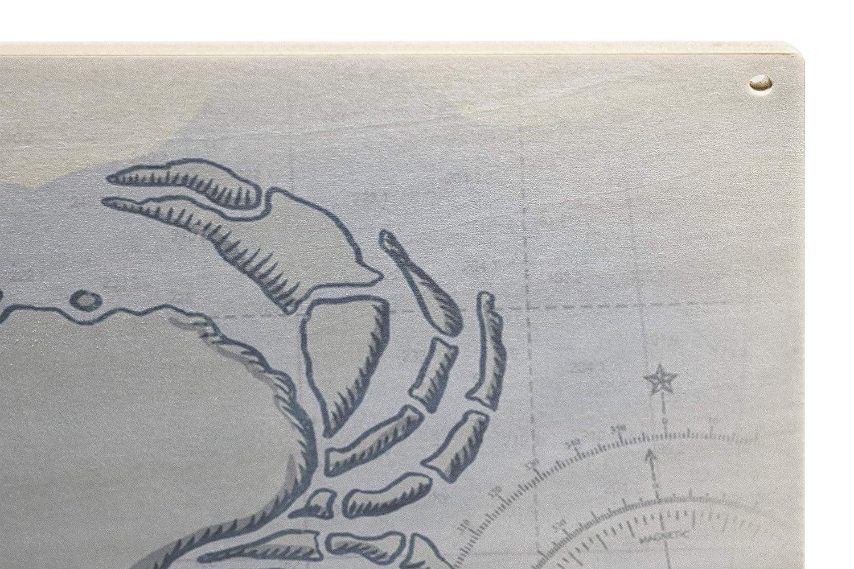 Washington Blue Crab 24x36 Giclee Gallery Print, Wall Decor Travel Poster Coastal Icon Port Angeles
