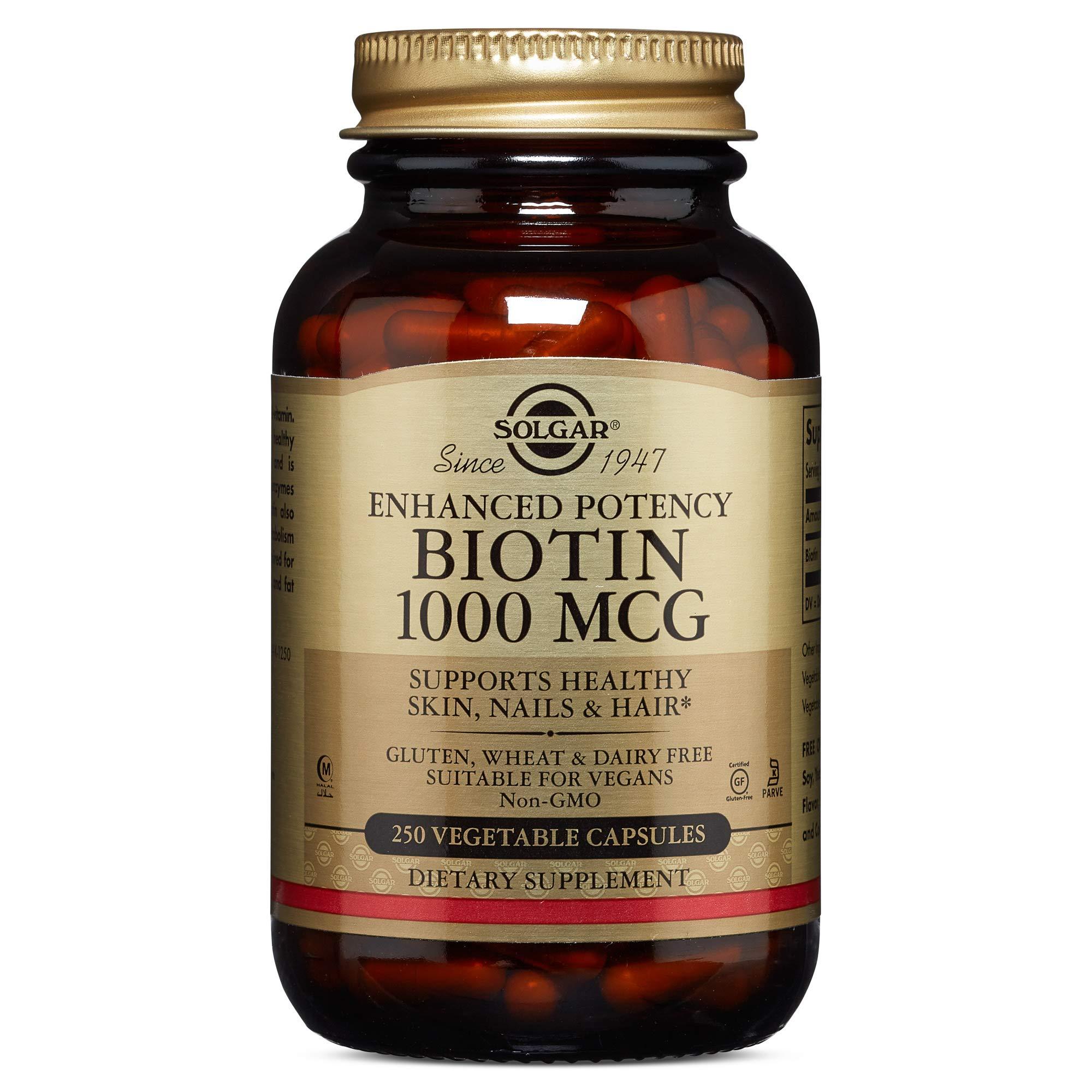 Solgar - Biotin 1,000 mcg, 250 Vegetable Capsules