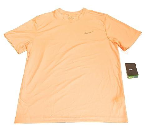 05c500f6 Amazon.com : Nike Mens UV UPF 40+ Miler Running Shirt Orange XL ...
