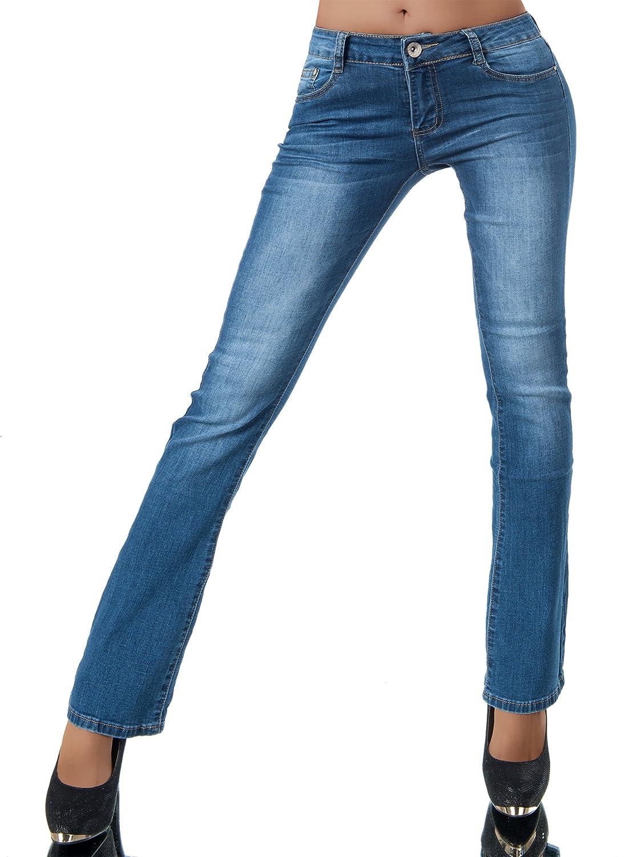 Damen Jeans Hose Hüfthose Damenjeans Jeans Röhrenjeans Röhre 153
