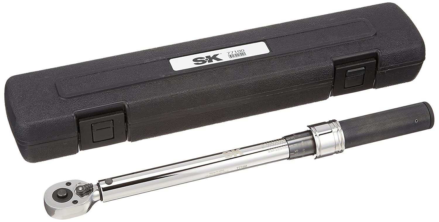 SK Hand Tool 77100 Micrometer Adjustable Torque Wrench, 3/8'/10-100 ft-lbs 3/8/10-100 ft-lbs