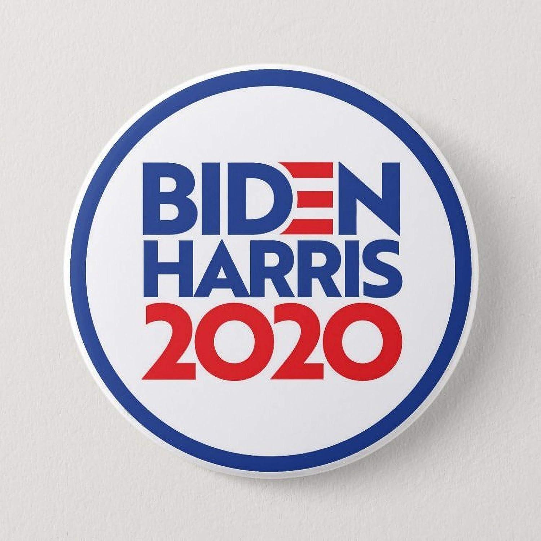 Joe Biden//Kamala Harris 2020 Pins 2.25 inch buttons Set of 7