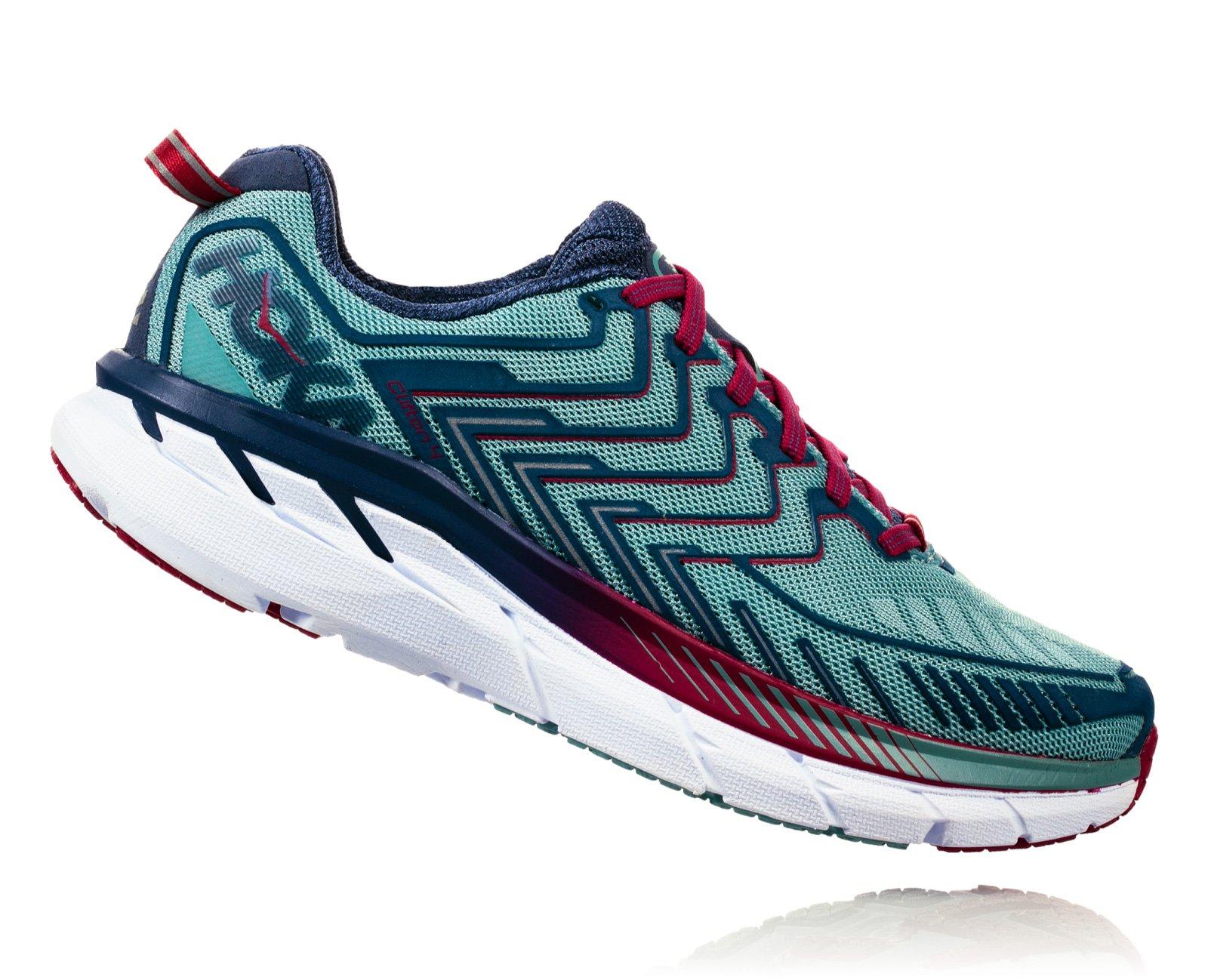 HOKA ONE ONE Women's Clifton 4 Running Shoe Aquifer/Vintage Indigo Size 7.5 M US
