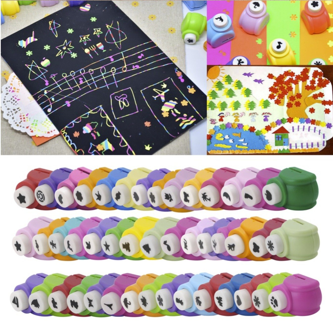 Magicwand DIY Art Craft Punch Kit for School ProjectsGift