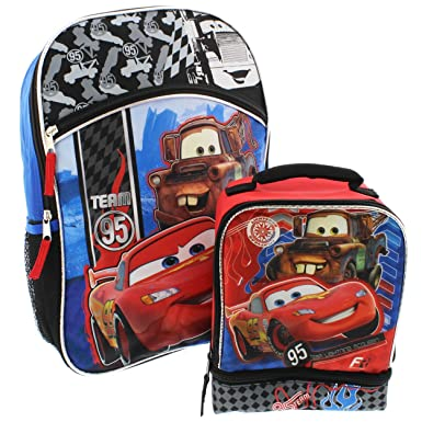 Amazon.com | Disney Cars 16 inch Backpack and Lunch Box Set | Kids ...
