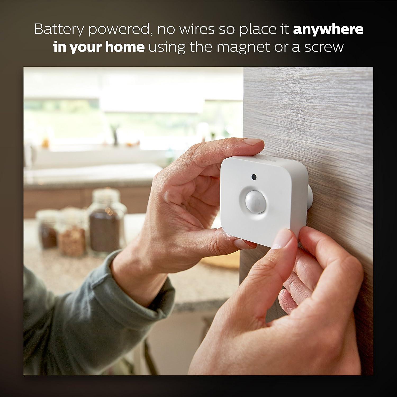 Philips Hue Wireless App Controlled Smart Home Lighting Motion Sensor in White