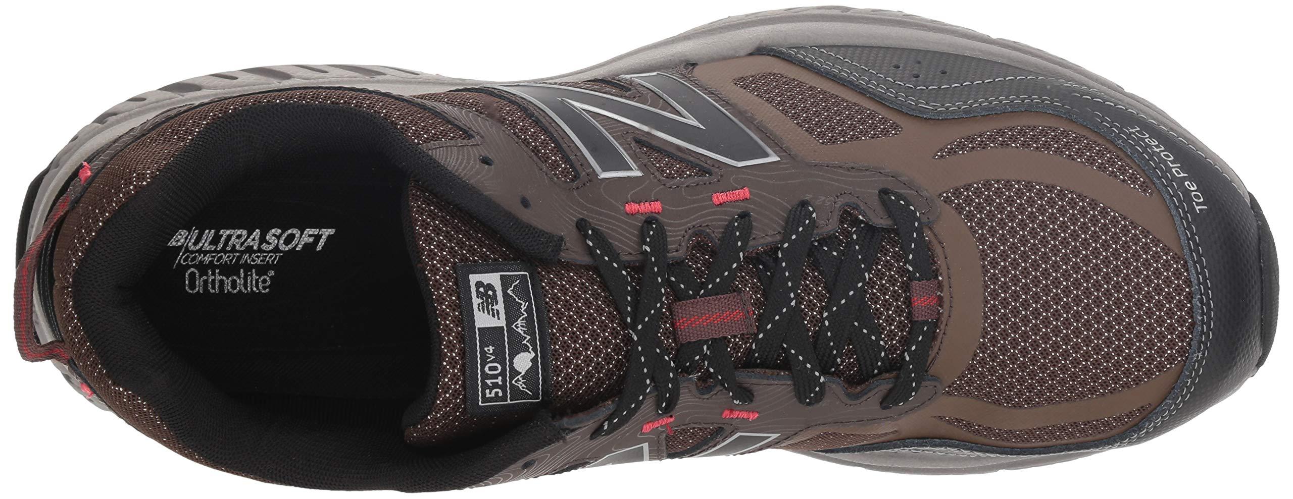 New Balance Men's 510v4 Cushioning Trail Running Shoe, Chocolate/Black/Team red, 7 D US by New Balance (Image #8)